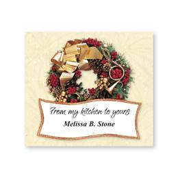Wreath Personalized Goodie Labels