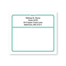 Green Border Personalized Shipping Labels