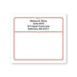 Red Border Personalized Shipping Labels