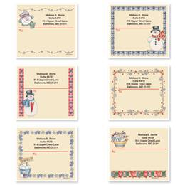 Snowman Personalized Shipping Labels