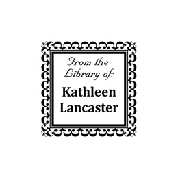 Bookplate Self-Inking Square Personalized Name and Address Stamper