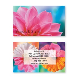 Floral Passions Double Sided Calling Cards
