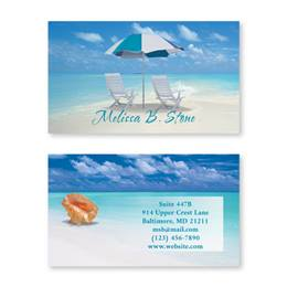 Calm Seas Double Sided Calling Cards
