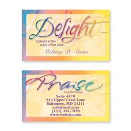 Faithful Words Double Sided Calling Cards