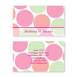 Just Dots Double Sided Calling Cards