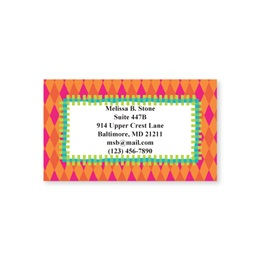 Bright Fun Single Sided Calling Cards