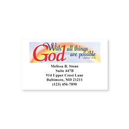 Scripture Single Sided Calling Cards