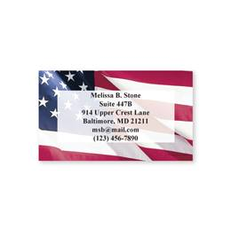 Flag Single Sided Calling Cards