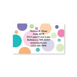 Graphic Dots Single Sided Calling Cards