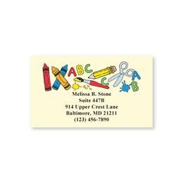 School Tools Single Sided Calling Cards