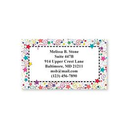 Confetti Single Sided Calling Cards