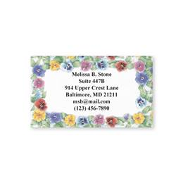 Pansies Single Sided Calling Cards