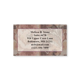Tapestry Single Sided Calling Cards