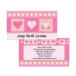 Fabulously Pink Double Sided Calling Cards