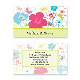 Floral Madness Double Sided Calling Cards