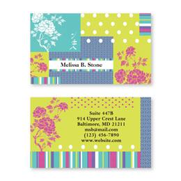 Carnation Double Sided Calling Cards