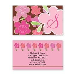 Shades Of Pink Double Sided Calling Cards
