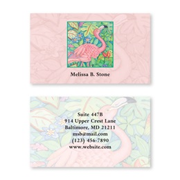 Flamingo Double Sided Calling Cards