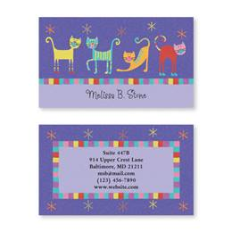 Fun Cats Double Sided Calling Cards