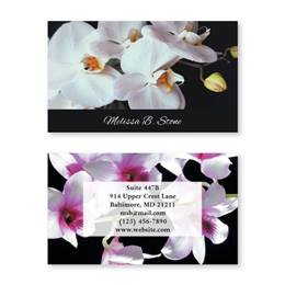 Orchids Double Sided Calling Cards