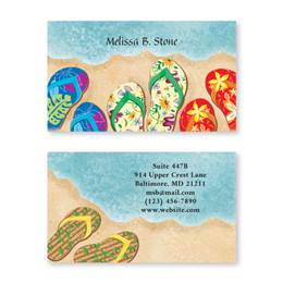Baja Flip Flops Double Sided Calling Cards