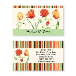 Elegant Tulips Double Sided Calling Cards