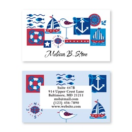 Nautical Double Sided Calling Cards