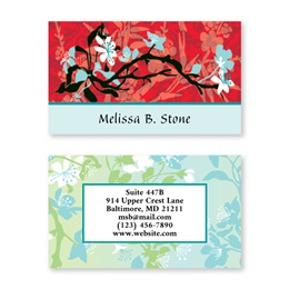 Asian Art Double Sided Calling Cards