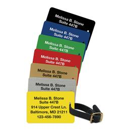 Premium Plastic Luggage And Bag Tags
