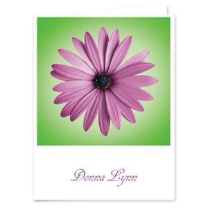 Photo Floral Personalized Note Cards