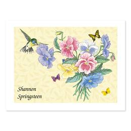 Hummingbird Personalized Note Cards