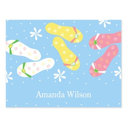 Flip Flops Personalized Note Cards