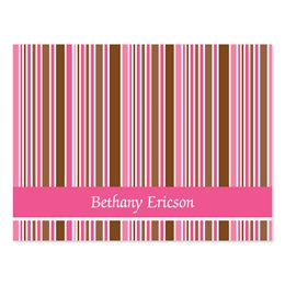 Stripes Personalized Note Cards