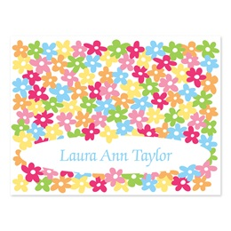 Flowers Personalized Note Cards