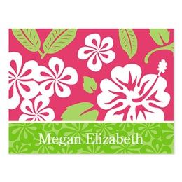 Hawaiian Personalized Note Cards