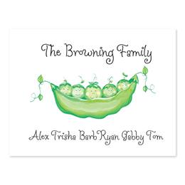 Peas In A Pod Personalized Note Cards