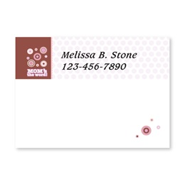 Moms The Word Personalized 4X3 Post It Notes