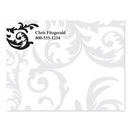 Flirty Swirl Personalized 4X3 Post It Notes