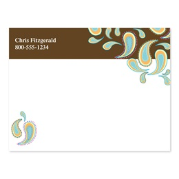 Chocolate Dipped Paisleys Personalized 4X3 Post It Notes
