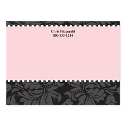 Chic And Pink Personalized 4X3 Post It Notes