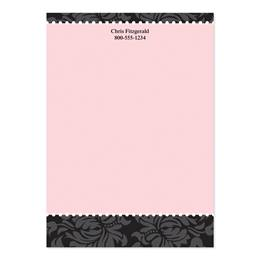 Chic And Pink Personalized 4X6 Post It Notes