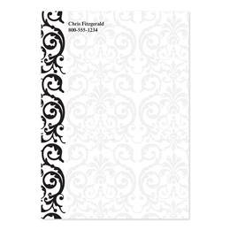 Elegant Lace Personalized 4X6 Post It Notes