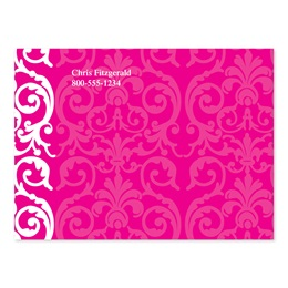 Elegant Pink Lace Personalized 4X3 Post It Notes