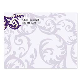 Flirty Purple Swirl Personalized 4X3 Post It Notes