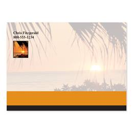 Sunset And Palm Trees Personalized 4X3 Post It Notes