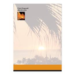 Sunset And Palm Trees Personalized 4X6 Post It Notes