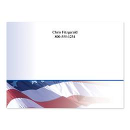 Flag Personalized 4X3 Post It Notes