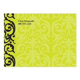 Elegant Lime Lace Personalized 4X3 Post It Notes