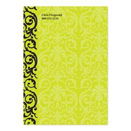 Elegant Lime Lace Personalized 4X6 Post It Notes