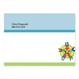 All Together Now Personalized 4X3 Post It Notes